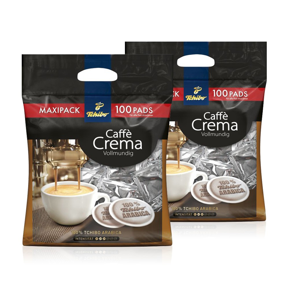 28 18 1kg tchibo kaffeepads 2 x 100 pads crema. Black Bedroom Furniture Sets. Home Design Ideas