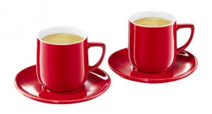 tchibo espresso tassen 2er set in rot designed by conran ebay. Black Bedroom Furniture Sets. Home Design Ideas