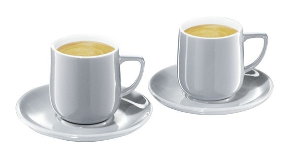 tchibo espresso tassen 2er set in grau designed by conran ebay. Black Bedroom Furniture Sets. Home Design Ideas