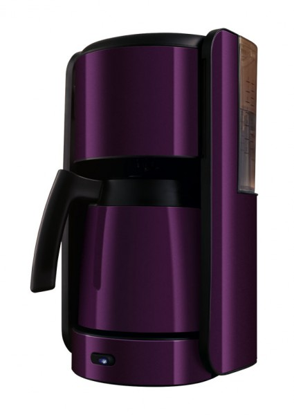 tchibo kaffeemaschine aubergine mit thermokanne und filtert ten ebay. Black Bedroom Furniture Sets. Home Design Ideas