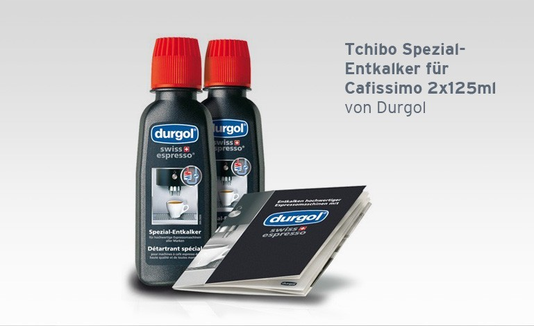 tchibo spezial entkalker f r cafissimo espressomachinen 2x125ml von durgol ebay. Black Bedroom Furniture Sets. Home Design Ideas